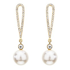 Mood - Crystal loop pearl drop earring