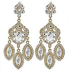 Mood - Antique effect triple drop chandelier earring