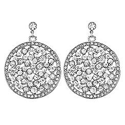 Mood - Crystal embellished disc drop earring
