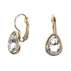 Mood - Gold crystal teardrop earring