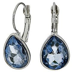 Mood - Blue teardrop french clip earring