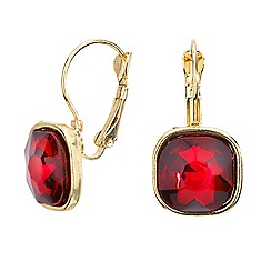 Mood - Red square drop earring