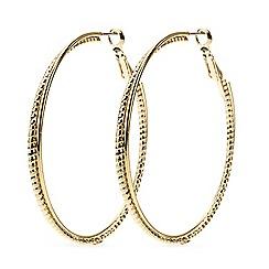 Mood - Textured gold twist hoop earring