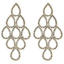 Mood - Diamante teardrop chandelier earring