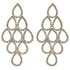Mood - Diamante teardrop chandelier earring
