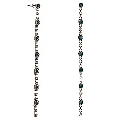 Mood - Green diamante crystal slinky drop earring