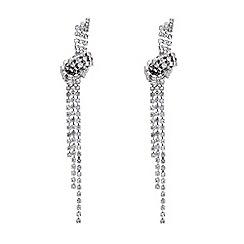 Mood - Diamante crystal slinky knot drop earring