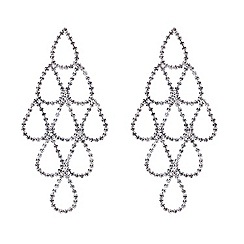 Mood - Crystal teardrop chandelier earring