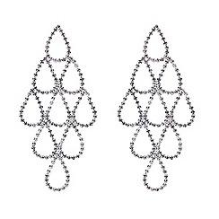 Mood - Crystal teardrop chandelier earring