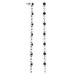 Mood - Black diamante crystal slinky drop earring