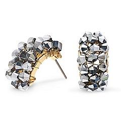Mood - Hematite bead cluster hoop earring