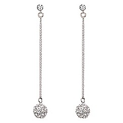 Mood - Crystal ball slinky chain drop earring
