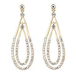 Mood - Crystal embellished double teardrop earring
