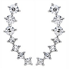 Mood - Graduated round crystal ear climber