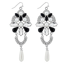 Mood - Monochrome and pearl chandelier earring
