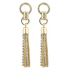 Mood - Diamante and mixed chain tassel earring
