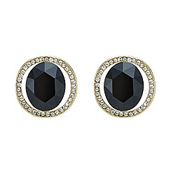 Mood - Jet stone embellished surround stud earring