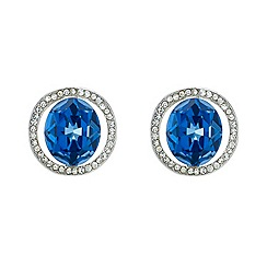 Mood - Blue stone embellished surround stud earring