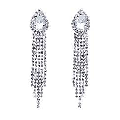 Mood - Online exclusive peardrop diamante tassel earring