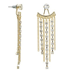 Mood - Diamante embellished gold strand earring