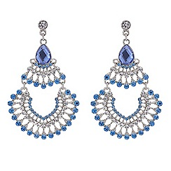 Mood - Tonal blue chandelier earring