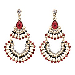Mood - Red chandelier earring