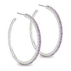 Mood - Pink diamante accented hoop earring