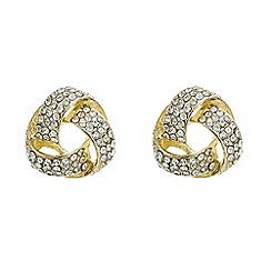 Mood - Gold crystal knot stud earring