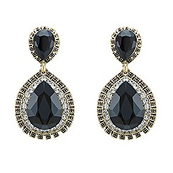 Mood - Jet embellished teardrop earring