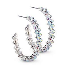 Mood - Aurora Borealis style diamond c-hoop earring