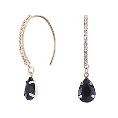 Mood - Jet black crystal embellished earring