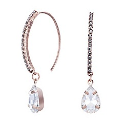 Mood - Grey diamante stick crystal teardrop earring