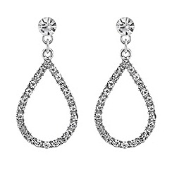 Mood - Crystal teardrop clip-on earring