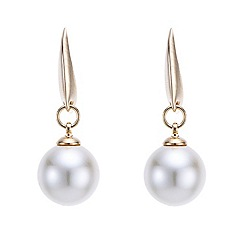 Mood - Gold round pearl drop earring