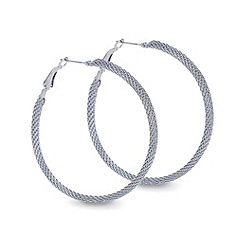 Mood - Large mesh hoop earring