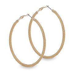Mood - Gold chain link hoop earring
