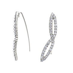 Mood - Online exclusive silver crystal embellished ear climber