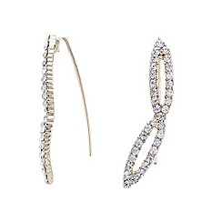 Mood - Gold crystal embellished ear climber