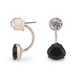 Mood - Two tone jet and clear crystal earring