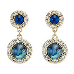 Mood - Ocean inspired crystal embellished gold earring