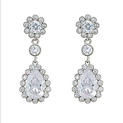 Mood - Crystal floral and tear drop inspired earring