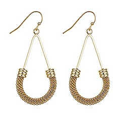 Mood - Rose gold mesh curve earring