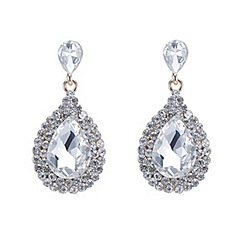 Mood - Diamante surround crystal gold teardrop earring