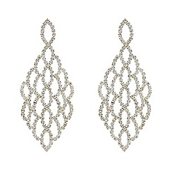 Mood - Diamante embellished gold chandelier earring
