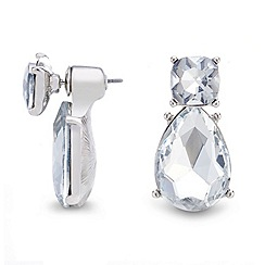 Mood - Silver crystal teardrop stud earring