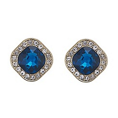 Mood - Crystal encased square teal earring