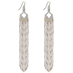 Mood - Long multi chain tassel drop earring