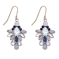 Mood - Multicoloured stone embellished drop earring