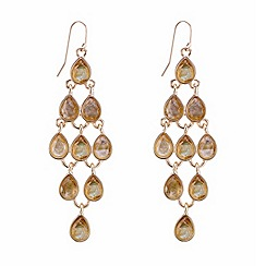 Mood - Gold mother of pearl teardrop chandelier earring