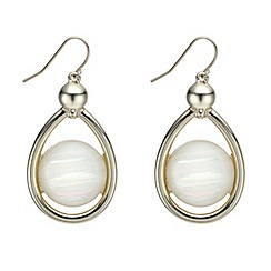 Mood - Cream mother of pearl teardrop earring